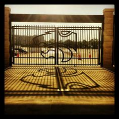 Kansas State Wildcats - Manhattan, Kansas. Love this gate!!