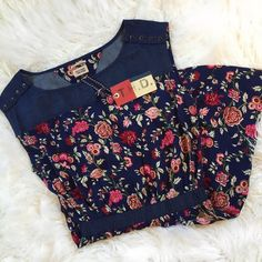 Tommy Hilfiger Floral Denim Dress Such a perfect spring/summer dress  Tommy Hilfiger Dresses Mini