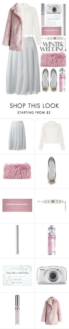 """better than summer wedding"" by foundlostme ❤ liked on Polyvore featuring RED Valentino, Whistles, Mr & Mrs Italy, Roger Vivier, Anastasia Beverly Hills, Joomi Lim, rms beauty, Christian Dior, Nikon and Chantecaille"