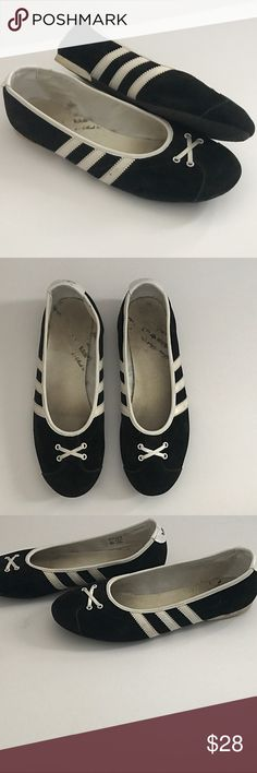 Adidas Ballet Flats Size 8.5 Adidas Ballet Flats Size 8.5. Good condition, no stains or sign of heavy wear on the exterior. Interior shows some wear. Perfect sporty kicks! Not sold anymore. Make an offer! adidas Shoes Flats & Loafers