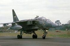 Un biplaza Jaguar EB de la Fuerza Aérea Ecuatoriana.