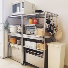Kitchen Dinning, Kitchen Cart, Home Organisation, Kitchen Organization, Muji Home, Japanese Apartment, Kitchen Interior, Home Kitchens, Sweet Home