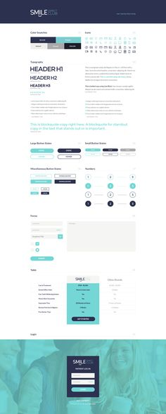 Sdc ui style guide … - My Design Ideas 2019 Website Style Guide, Web Style Guide, Best Website Design, Brand Style Guide, Website Layout, Web Layout, Style Guides, Website Web, Website Ideas