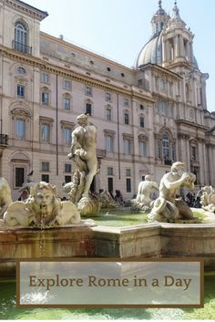 Explore Rome in one day with this walking tour that includes all the major attractions, the Colosseum, the Vatican, Piazza Navona, Fontana di Trevi, the Pantheon etc