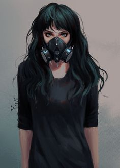 Green Eyes Toxic Anime Girl on Inspirationde Anime Art Green Eyes Toxic Anime Girl on Inspirationde Gas Mask Art, Masks Art, Girl Cartoon, Cartoon Art, Anime Art Girl, Anime Girls, Yuumei Art, Character Inspiration, Character Art