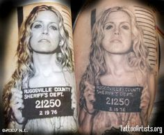 Sherri Moon Zombie/Devil's Rejects tat!   This is totaly insane but for some reason I love it!