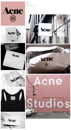 Acne Studios - Fashion Designer Branding Packaging Logo Communication Identity - Collaged by Yağmur Kutlu