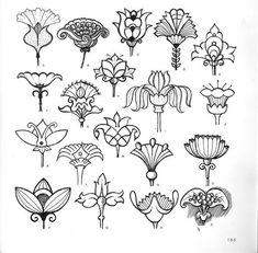 64 ideas for art deco tattoo design ideas flower Design Art Nouveau, Motif Art Deco, Art Design, Design Ideas, Folk Embroidery, Embroidery Patterns, Fleurs Art Nouveau, Art Deco Flowers, Art Deco Tattoo