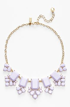 Such a beautiful lilac statement necklace for spring.