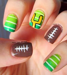 Peace, Love and Polish: Superbowl Sunday - Football Nails