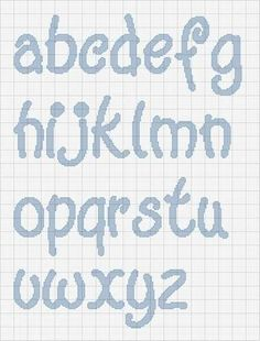 Nomi con il punto croce - Le lettere dell'alfabeto