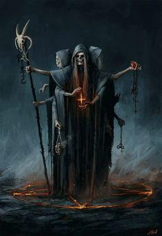 Der Tod oder auch manchmal der Teufel dargestellt in der Kunst. there is nothing but on it, becaus Dark Fantasy Art, Fantasy Kunst, Fantasy Artwork, Dark Art, Fantasy Demon, Art Macabre, Art Sinistre, Arte Dark Souls, Grim Reaper Art