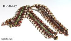 LUGANNO Rula and SuperDuo Beadwork Bracelet tutorial by bead4me, $7.00