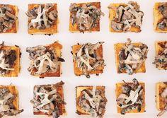 Wild Mushroom Ragoût on Crispy Polenta with Comte Cheese - Bon Appétit