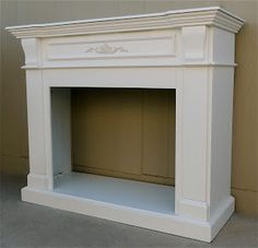 "Faux fireplace  56"" wide 21"" deep 48"" high                                                                                                                                                                                 More"