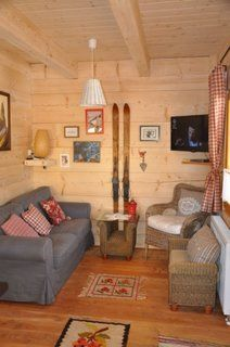 Beautiful handmade small log cabin by The Little Log House Company Little Log Cabin, Small Log Cabin, Inside Tiny Houses, Big Houses, Cabins In The Woods, House In The Woods, Mini Chalet, Cosy House, Upstairs Bedroom