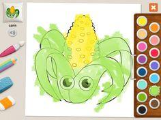 """""""Corn"""" - Julia (age 5). #coloring #pages #memollow"""