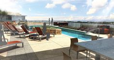 Dive into Gables Residential this summer! Gables Cherry Creek has a top of the line outdoor swimming pool and lounge area, perfect for sunny Colorado days.
