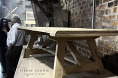 A Pierre Cronje Karoo Coffee Table poses for its photoshoot