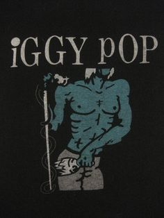 Vintage IGGY POP 1981 tour SHIRT by rainbowgasoline on Etsy