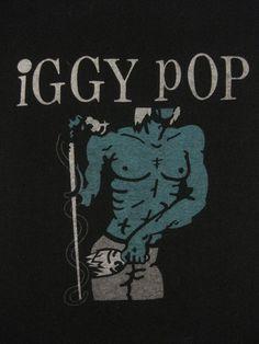 Vintage IGGY POP 1981 tour SHIRT by rainbowgasoline on Etsy