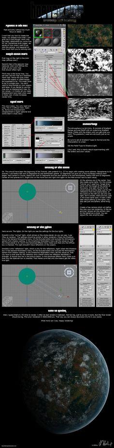 3ds Max Planet Tutorial by *hoevelkamp on deviantART