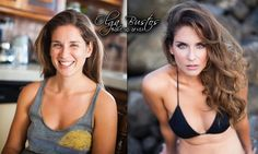 Having so much fun working with this beautiful lady #BeforeandAfter Olga Bustos #MakeupArtist in #Cabo