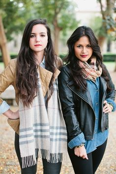 Chambray and Leather