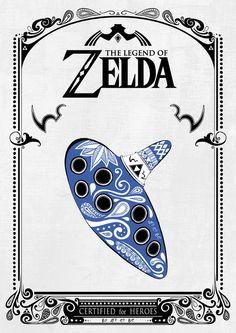 "nerdsandgamersftw: ""Legend of Zelda Posters By Art Et Be """