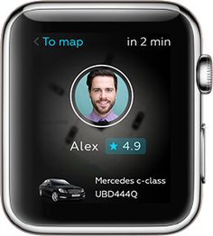 Uber for Apple Watch concept