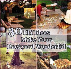 DIY Ideas How To Make Your Backyard Wonderful