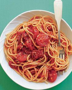 Spaghetti with Three-Tomato Sauce