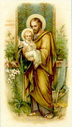 San José Patriarca, (estampa antigua)