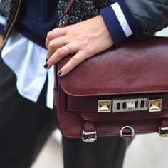 burgundy red bag | Proenza Schouler