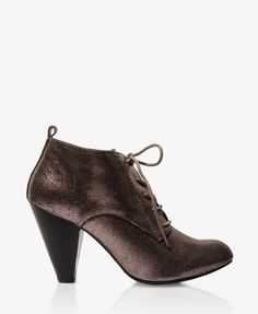 Metallic Lace-Up Booties | FOREVER21