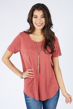 Slinky Pocket Tee $48   The #1 boutique for moms! $5 Flate Rate Shipping + FREE shipping on all orders over *$50. #Evereve
