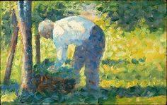 Georges Seurat (French, 1859–1891). The Gardener, 1882–83. The Metropolitan Museum of Art, New York. Bequest of Miss Adelaide Milton de Groot (1876–1967), 1967 (67.187.102) #spring