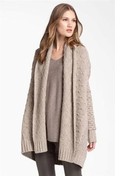 NWT $445 Vince Textured Sweater Blanket Car Coat Cardigan Oatmeal ...