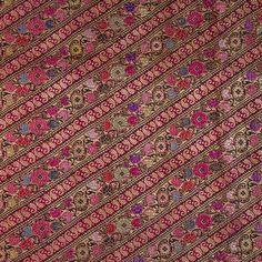 Silk woven with gold and silver-wrapped thread (zari)  Varanasi, India  Circa 1880
