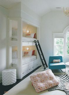 Think of using this is a small room in a vacation home (or beach home when you need to sleep the max amount of guests) where you can build this into the current closet space!