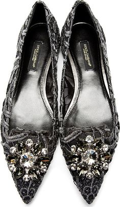 Dolce & Gabbana Silver Lace & Crystals