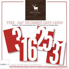 December Album FREE Printable!