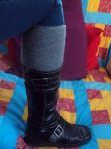 Cashmere Legwarmers from Old Sweater