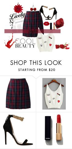 """""""✨ Pretty Gal ✨"""" by conceitedbrat ❤ liked on Polyvore featuring Lands' End, Versace, Chanel, Lime Crime and Nika"""