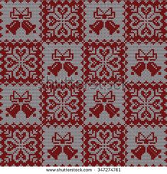 Knitted winter seamless pattern - stock vector
