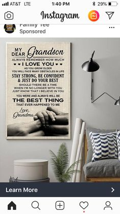My Dear Grandson Always Remember How Much I Love You Family Poster , My Dear Grandson Poster, Family Poster Wish You Are Here, I Love You, Just For You, My Love, Believe In You, Grandson Quotes, Daughter Quotes, Always Remember Me, Family Poster