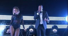 """Watch Beyonce and Jay Z perform the single """"Drunk In Love"""" from Beyonce's self-titled album for the first time on national television at the 56th Annual Grammy Awards.   Some fans were not satisfied with the performance as most are used to Beyonce's vivacious on stage presence. Visit rebelleagency.com/rebelleion for more!"""