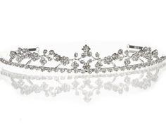 Bridal Wedding Tiara Crown With Crystal Flowers C5287