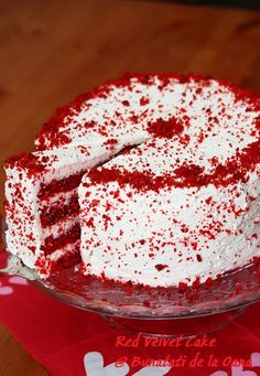 Cake Recipes Vanilla Homemade - New ideas Easy Cake Recipes, Pie Recipes, Red Velvet Cake, Food Cakes, Something Sweet, Vanilla, Deserts, Food And Drink, Sweets