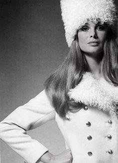 Jean Shrimpton wearing Ottos Lucas coat photo David Bailey 1969